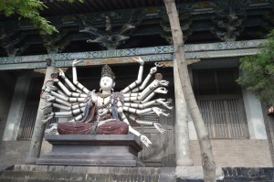 A shrine at one of the Pingyao temples