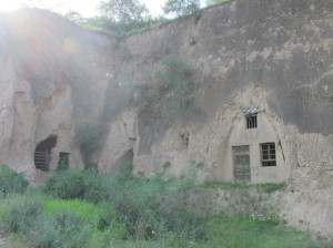 Some of the cave dwellings carved into the sides of some of the cliff sides