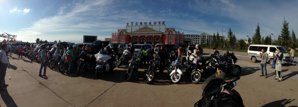 Harley group at the border area