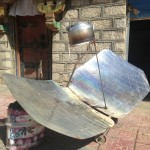 Solar water heaters (not satellite dishes), all over the small villages