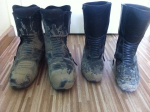 Our Muddy Riding Boots