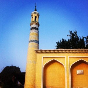 The major mosque in Kashgar. A short walk away from our hostel