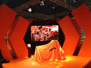 Getting ready for the big unveiling with KTM
