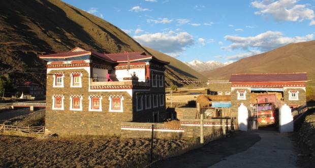 The Tibetan family home we stayed at near the town of Waze