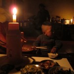 Dinner by candle light
