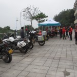 Large variety of bikes ridden in for the MotorBar event.