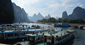 Boat rides down the Li River in Yangshuo
