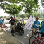 Biking with the volunteers