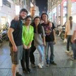 Group photo on the streets of Wuzhou