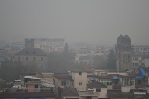 Pollution over Qingyang in Anhui province