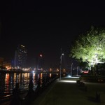 Walk down the promenade after a night out in Laowai Town